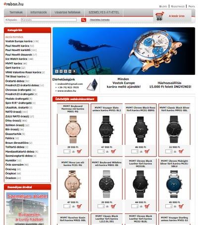 Az órabox.hu-t, mint órás webáruházat azért keltettük életre, hogy támogassa az órák és órás szerszámok iránt érdeklődő vásárlókat. Több éve foglalkozunk órakereskedelemmel, aminek köszönhetően minden termékünk igen kedvező áron kapható webáruházban.